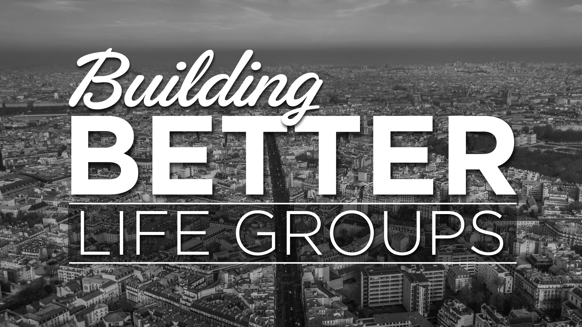 Lifegroup leaders course - 8 weeks