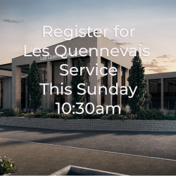 Click here to register to attend Les Quennevais THIS Sunday at 10:30am